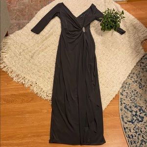 Lauren Ralph Lauren Gray Evening Dress